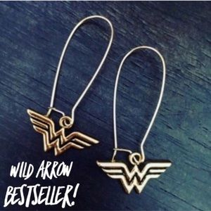 Wild Wonder Woman 18K Gold Dangle Earrings